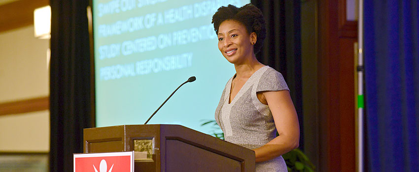 Dr. Nneka Ifejika speaks at the Eighth Annual National Conference on Health Disparities.