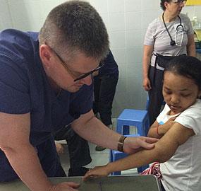 Dr. Matthew Koepplinger in Cambodia