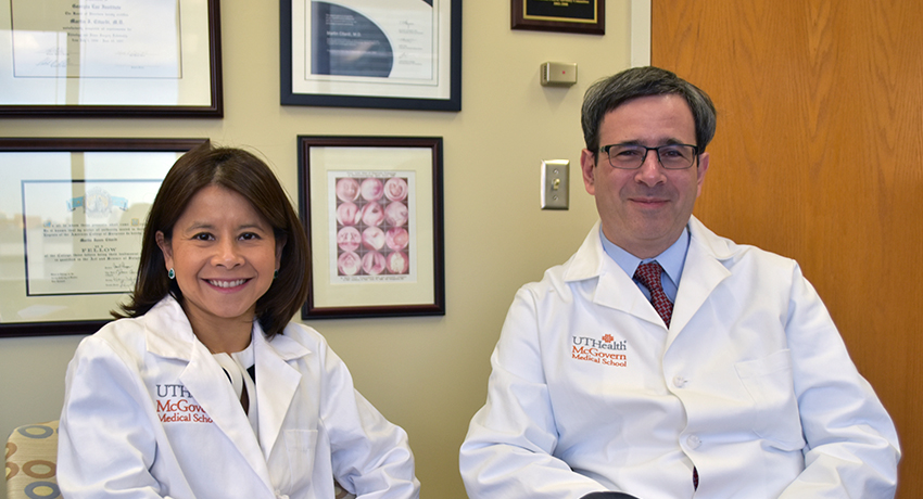 Martin J. Citardi, M.D. and Amber U. Luong, M.D, Ph.D. recognized on Best Doctors in America list. Photo credit: Rob Cahill, UTHealth Media Relations