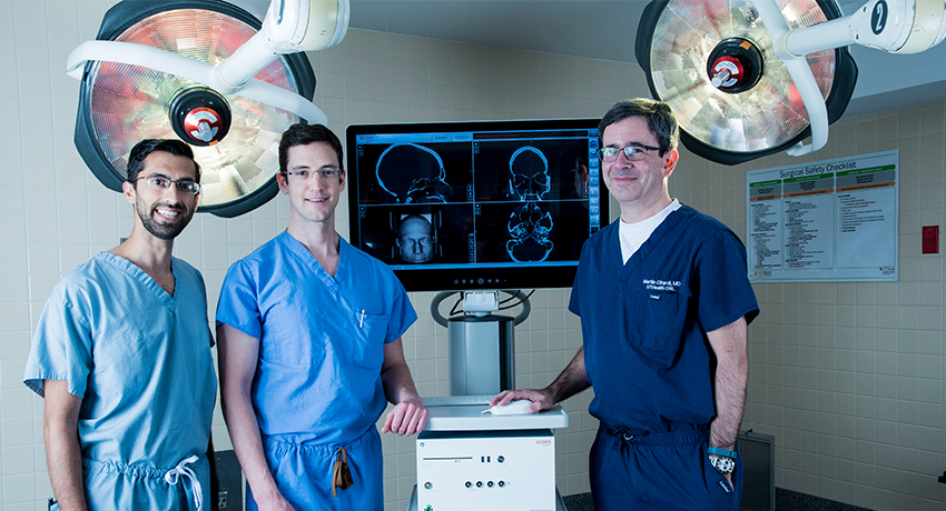 Dr. Citardi with Scopis in operating room at Memorial Hermann - Texas Medical Center.