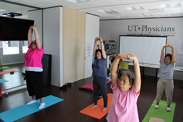 Yoga classes are offered every Wednesday and Thursday from 10:30 am-noon at 10623 Bellaire Blvd., Houston.