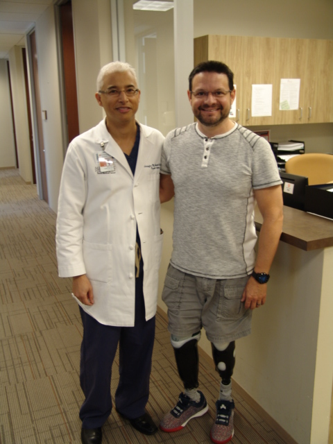 Zachery Jessup with Kristofer M. Charlton-Ouw, MD, at a recent appointment. (Photo by: Caliann Ferguson)
