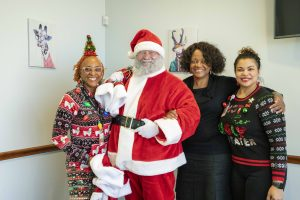 Heights Santa with staff