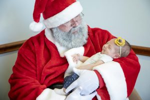 Heights Santa with baby