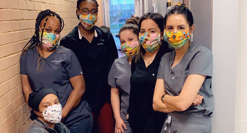 Patient donates masks