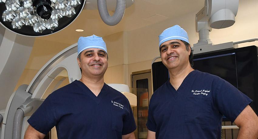 Keyhani brothers and vascular surgeons