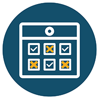 Staggered Appointments Icon