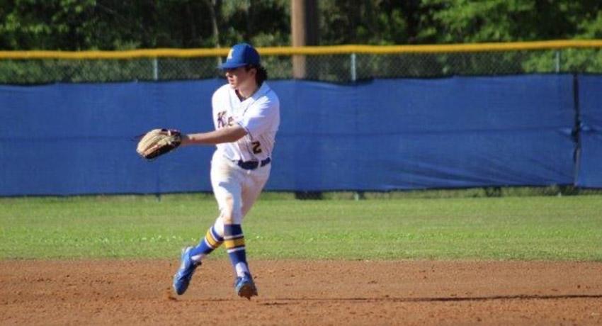 Jason Guidry on baseball field