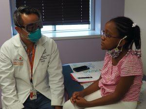 Dr. Phuong Nguyen and patient Megan Harvey