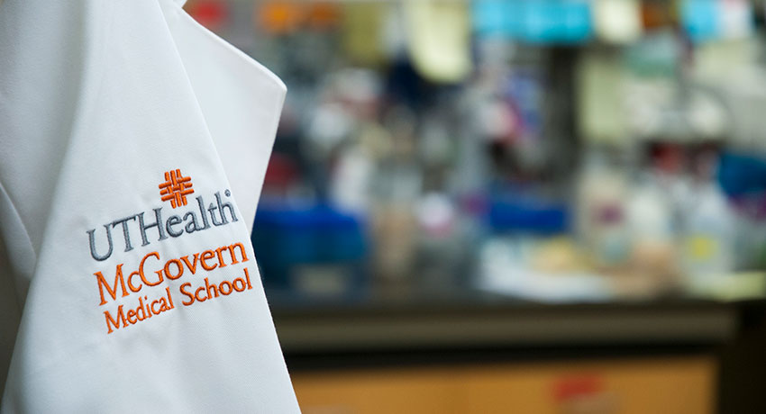UT Health and McGovern Medical School Logo on Coat