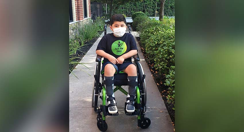 Sam Lujan, diagnosed with Duchenne Muscular Dystrophy