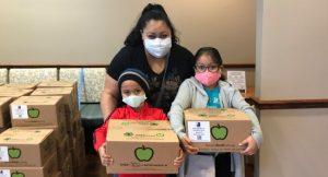 flu shot clinic food donations