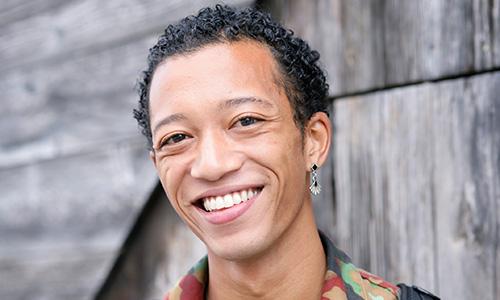 Gender Fluid Person Smiling