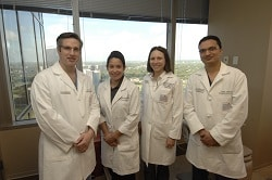 Division of Head & Neck Surgical Oncology Team From left to right: Ron J. Karni, M.D., Vanessa Sifontes, Carolina Gutierrez, M.D., Kunal Jain, M.D.