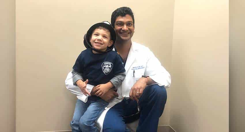 Edison Clinger and Dr. Shah