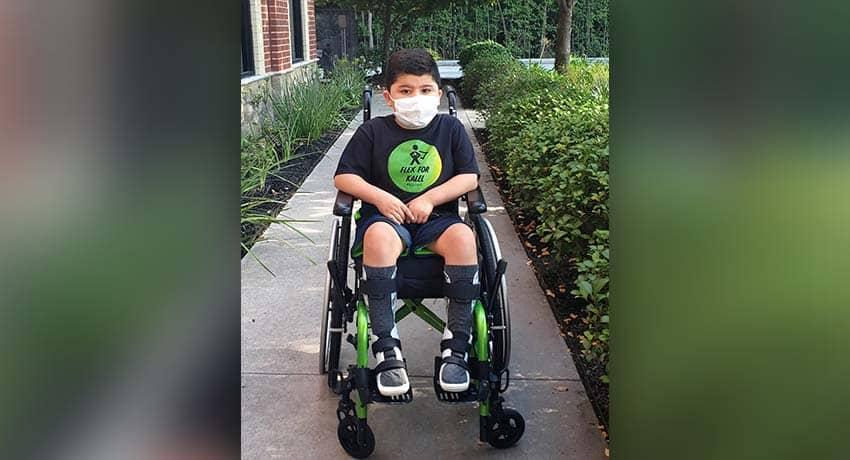 Sam Lujan, diagnosed with Duchenne Muscular Dystrophy