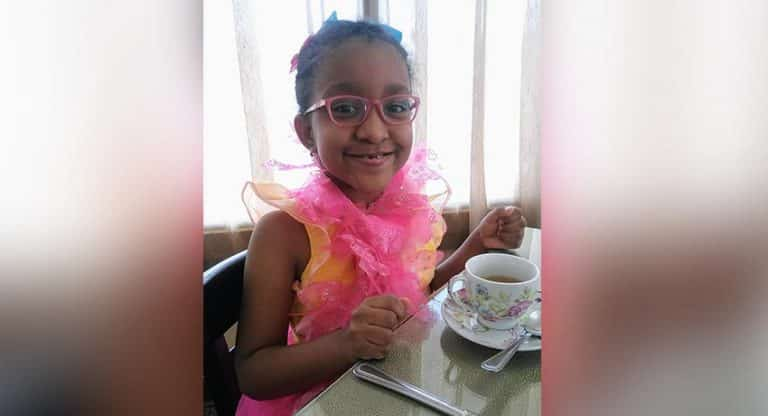 Megan Harvey at six years old