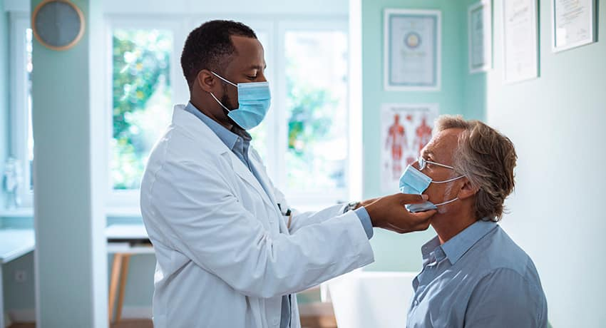 Medical Exam Patient and Doctor