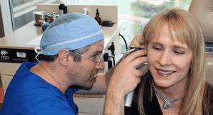 Frances Stites participated in the no-cost oral, head and neck cancer screenings on April 13. Ron J. Karni, M.D., started the screenings eight years ago.
