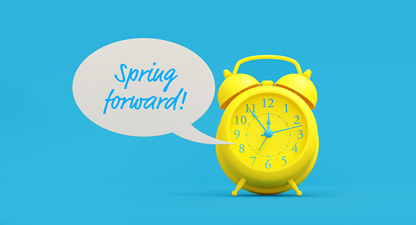 Spring forward, daylight saving time