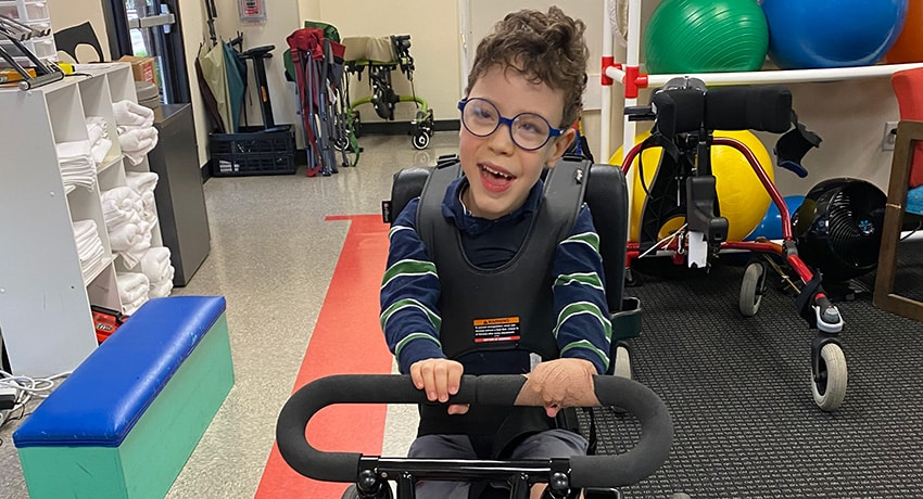 Boy with cerebral palsy is thriving with help from specialized clinic