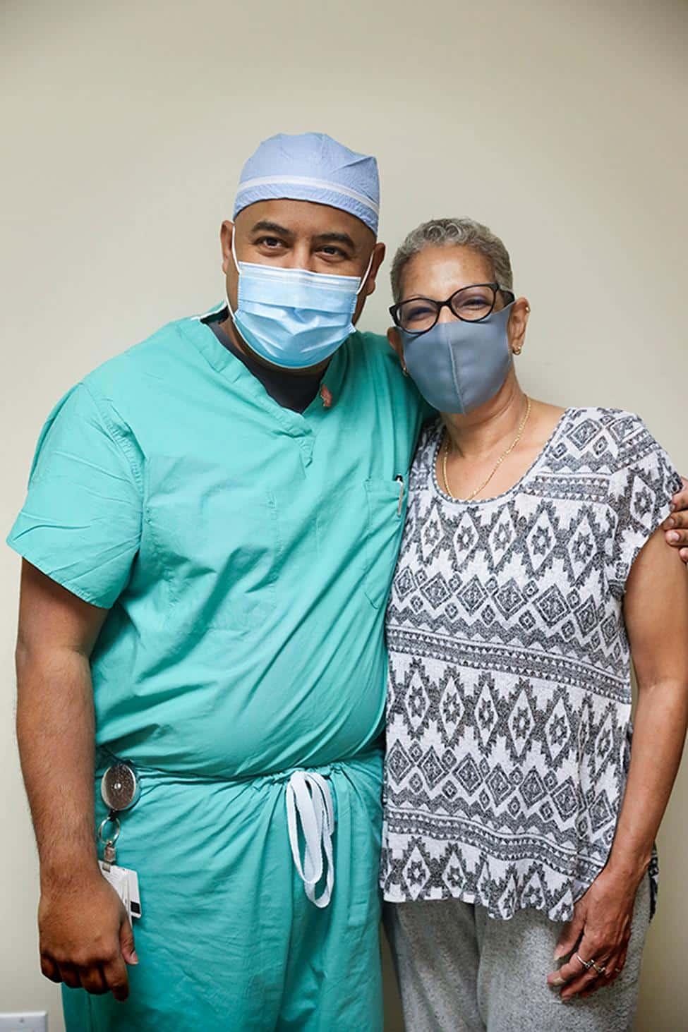 Photo of Doralyn Davenport who is now cancer free. (Photo by Maricruz Kwon/UTHealth)