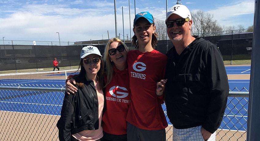 Luke Henley and family