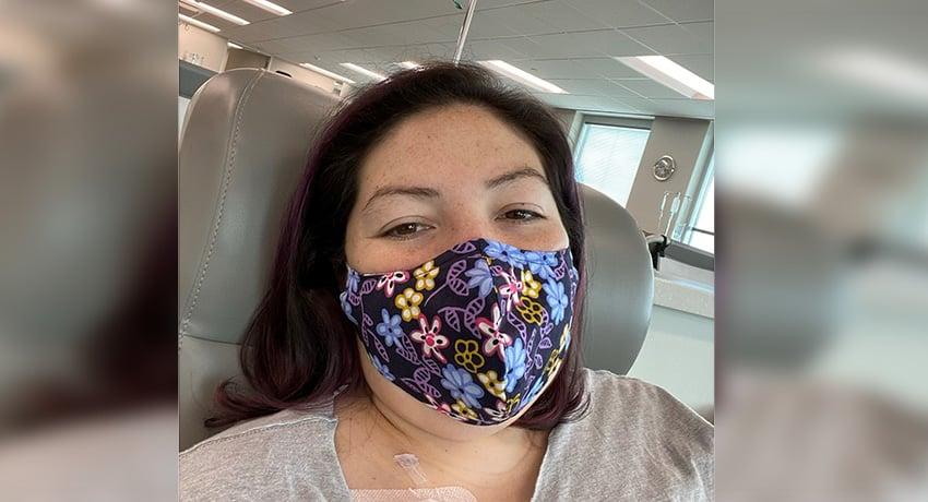 Samantha Leos, colorectal cancer patient