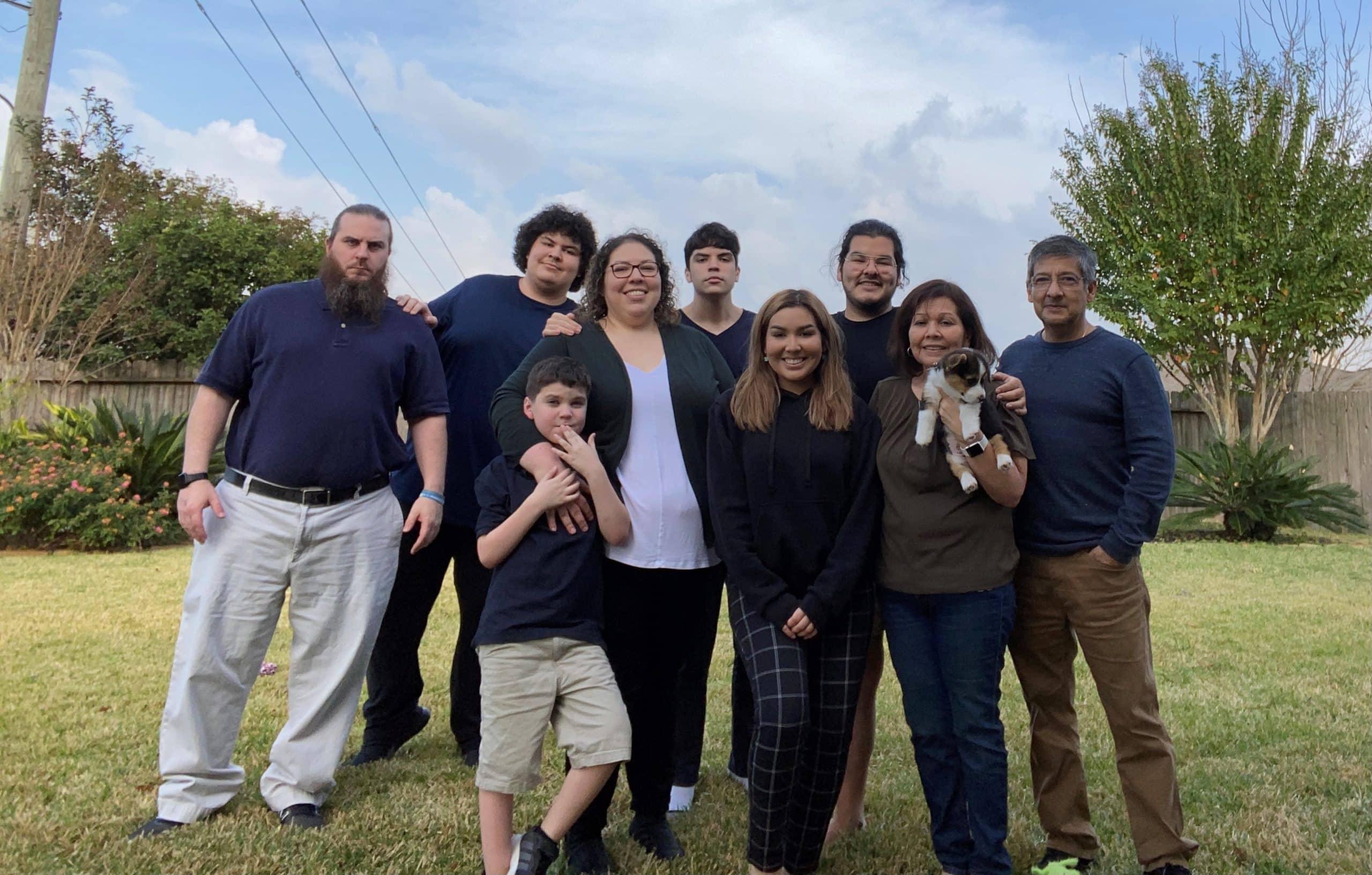 Samantha Leos and family
