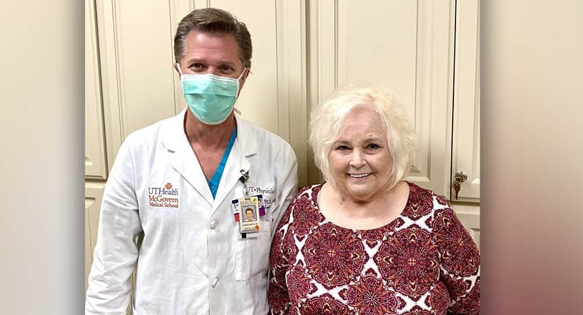 Shelley McGuire with Gordon Martin, MD