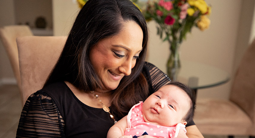 Archana Acosta and her daughter