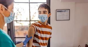Pediatric patient seeing doctor